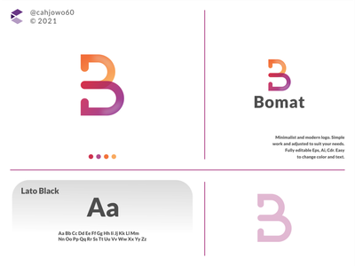 Bomat logo app ux ui typography vector logo icon illustration design branding