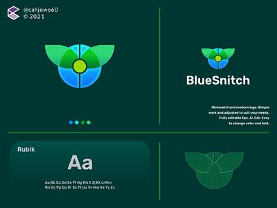 Blue Snitch apparel corporate minimalist simple modern app ux ui typography vector logo illustration icon design branding