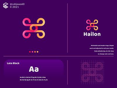 Hailon logo corporate apparel minimalist simple modern graphic design app ux ui typography vector logo illustration icon design branding