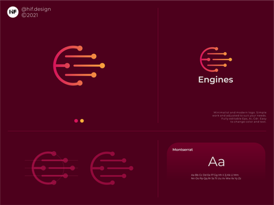 Engines logo corporate apparel brand engine simple minimalist modern app ux ui typography vector logo illustration icon design branding