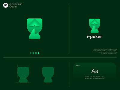 i-poker logo logo process grid logo concept logo ideas color simple modern brand app typography vector logo illustration design icon branding