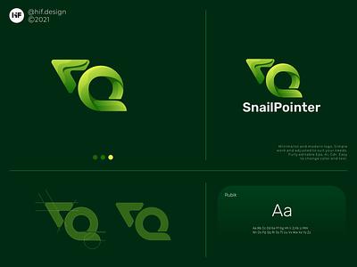 Snail Pointer logo logo process minimalist modern brand app branding animation pack
