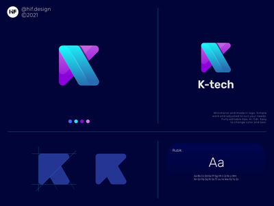 K Tech technology k logosai simple modern brand graphic design app typography vector illustration design icon logo branding