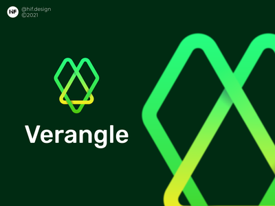 Verangle logo logo process color simple modern logosai logos brand app typography vector illustration design icon logo branding