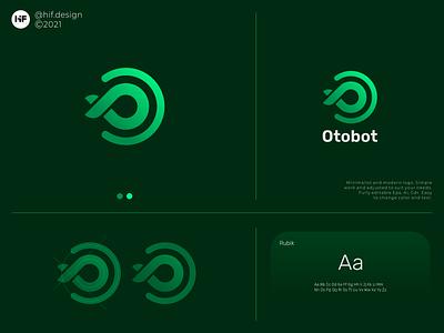 Otobot logo logosai branding graphic design modern