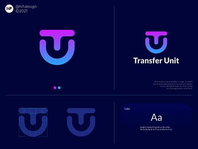 Transfer Unit logo grid color logo process simple modern logosai logos brand graphic design app typography vector illustration design icon logo branding