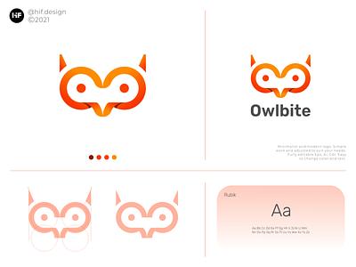 Owlbite logo technology tech apparel logo process grid color simple modern brand logosai logos app typography vector illustration design icon logo branding
