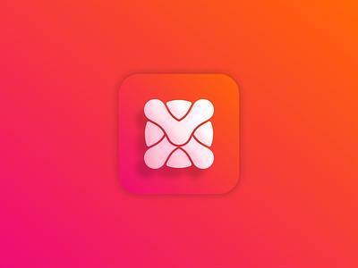 Vx logo color simple modern logsai logos app typography vector illustration design icon logo branding