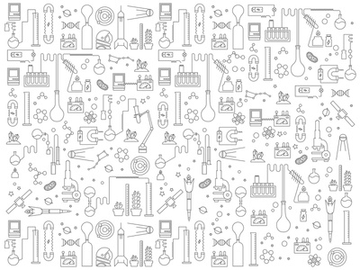 Science iconos pictogramas icons pictograms magnet experimento pattern ciencia science