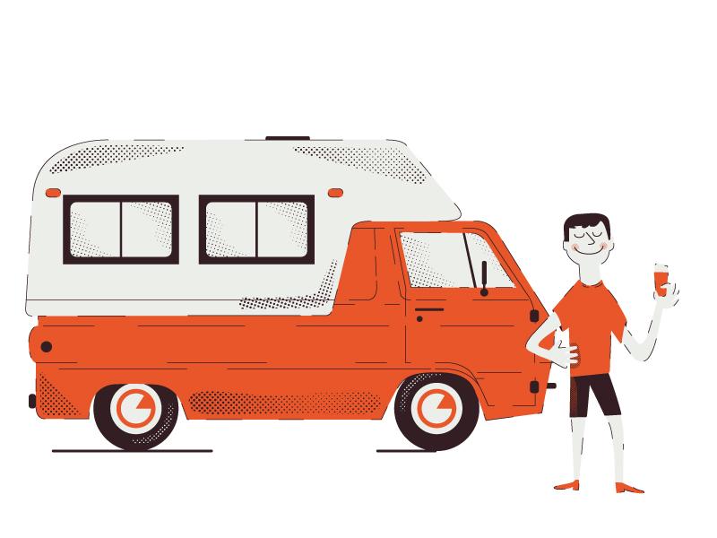 Summer dodge caravan vintage trailer caravan mobile home