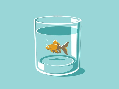 Water Is For All art direction graphic design design illustration glass marine fish ocean water