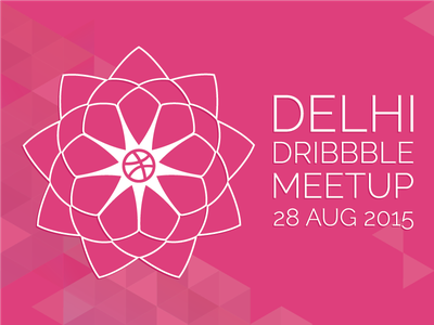 Delhi Dribbble Meetup 28 Aug 2015 graphic pink logo design india meetup dribbble delhi