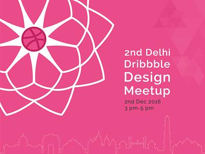 2nd Delhi Dribbble Meetup pink design dribbble india delhi meetup