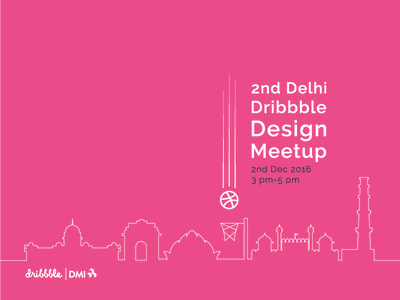 Dribbble in Delhi meetup design india delhi pink