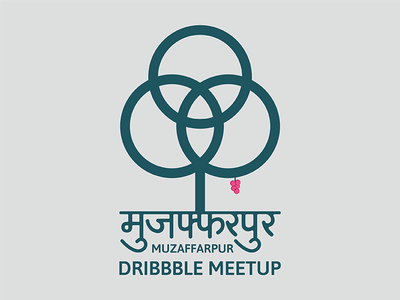 Muzaffarpur Dribbble Meetup logo litchi tree muzaffarpur dribbble meetup
