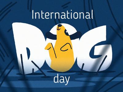 Dogday 🐕✨ dog illustration doggo dog illustration motion graphics fourplus animation