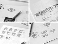eyerim / wordmark & brand mark sketches