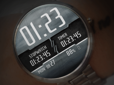 Stopwatch & Timer Watchface for Android Wear