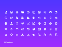 50 Free Business Icon Pack