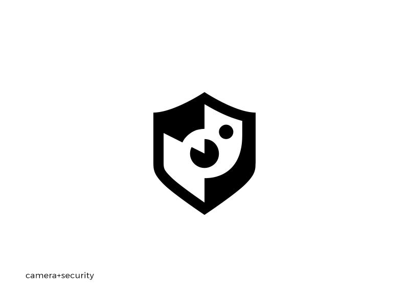 camera security shot instagram shield minimal logotype logo guides guideline brand