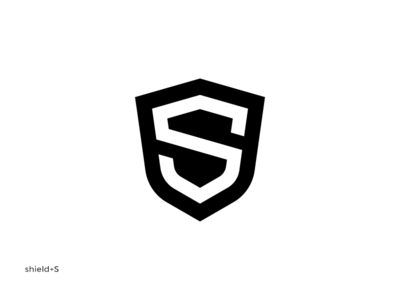 Shield + S minimalist balck letter overlay twitch branding logotype logo clean armor