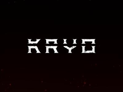 Kryo logo japan type branding samurai gaming twitch letter clean black brand minimal logotype