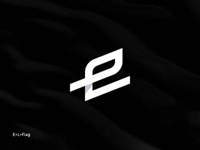 E+L+Flag sports logo animation clean brand minimal logotype logo flag golf club golf