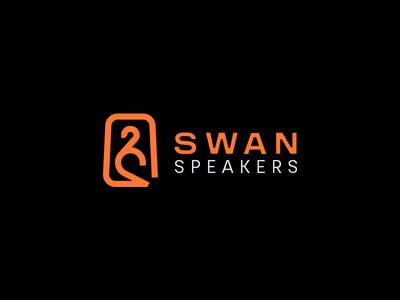 Swan Logo speaker speakers branding minimal dark duck bird music sound letter black clean brand logotype logo