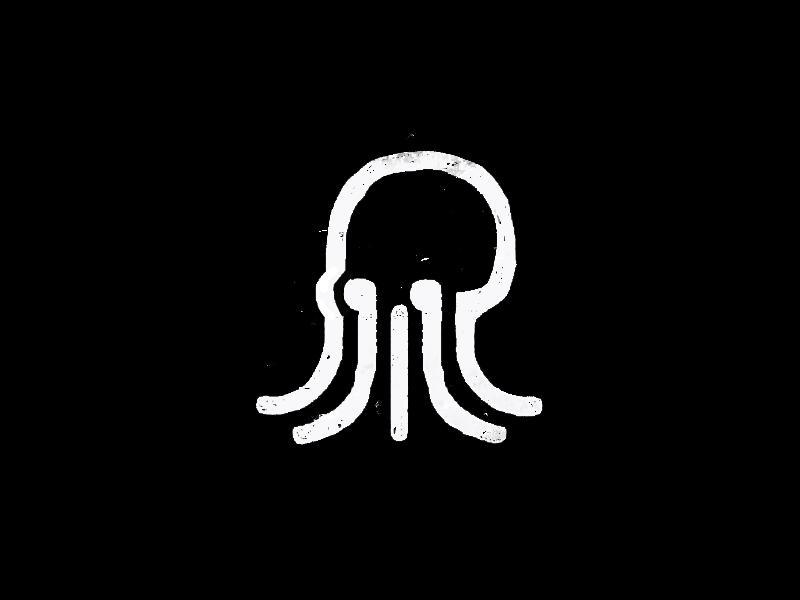 octopus ocean mark vector skull sea black clean brand minimal logotype logo