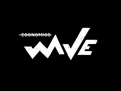 wave economics economy ecommerce stats branding letter black clean brand minimal logotype logo