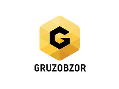 Gruzobzor.ru logo logo gruzobzor icon brand branding startup service cube cargo g