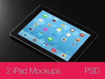 iPad Mockups PSD (black) ipad mockup mockups apple psd photo vector download free freebee freebies black