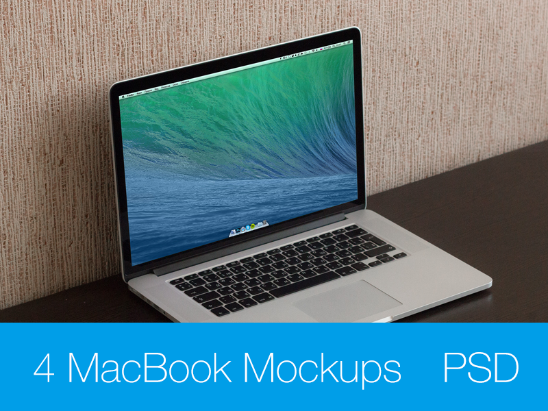 MacBook Pro Retina 15 Mockup macbook mockup apple psd photo download free freebee mockups mavericks yosemite
