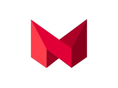 Macro Logo macro logo m russian russia icon red