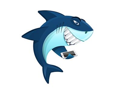 Appshark Logo logo shark flat app ios android mac animal fish cartoon angry