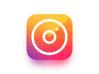 Instascanner scanner rainbow insta iphone ios psd radar instagram icon