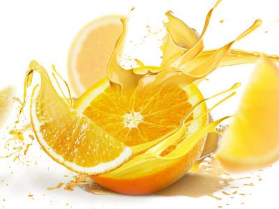 Orange explosion illustration