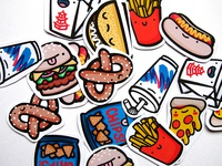 Junk Food Dudes Stickers