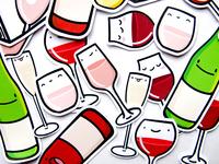 Wine Buddies Sticker Pack
