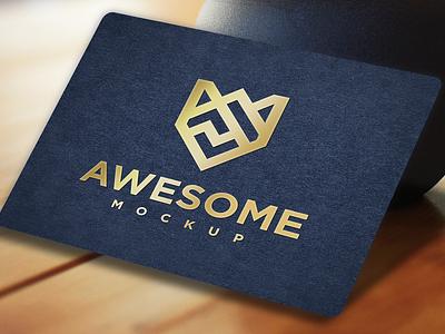 Luxury Gold Paper Logo Mockup business company branding luxurymockup luxury paper mockups photoshop psd mockuplogo mockup businesscard