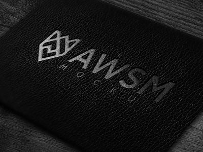 luxury leather map logo mock up texture paper elegant luxury mockups logomockup mockup