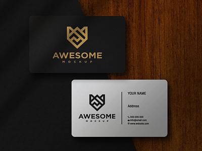 Business Card Mockup paper silver gold branidentity identity layered photosop simple modern bestmockup logo elegant luxury logomockup design company mockup branding