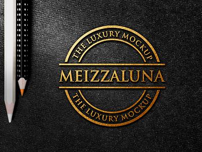 luxury logo mockup dark blackpaper photoshop modern bestmockup texture gold embossed mockups luxurymockup logo elegant luxury logomockup design company mockup branding