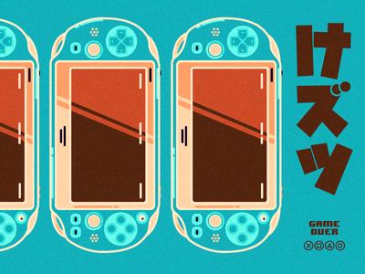 Experiment .02 blog identity branding playstation video games sony illustration vita