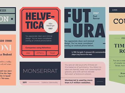Type Stuff times new roman luggage labels san serif carton bodoni courier montserrat futura helvetica type typography