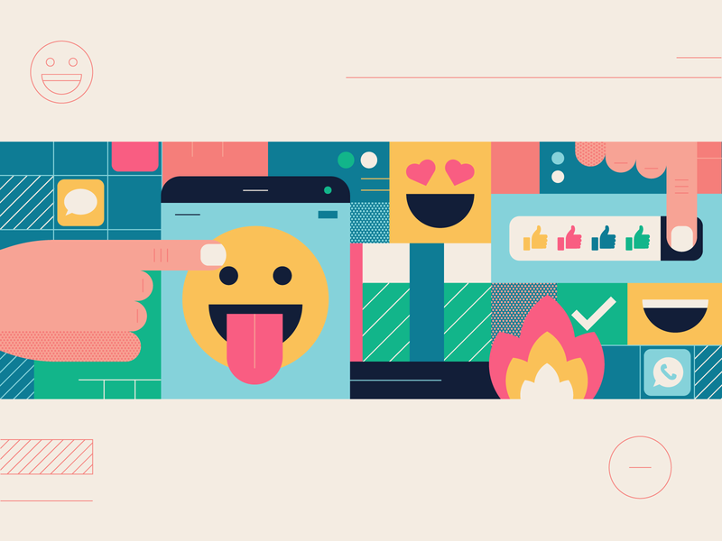 Emoji Goodies fingers touch whats app emojis fire messenger likes hands phone