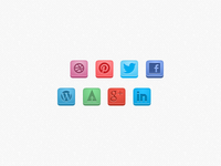 Chiclet Style Social Icons