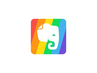 Pride sticker brand identity logo diversity and inclusion pride evernote