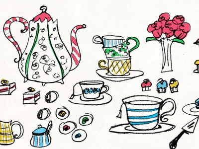Spot o' tea illustration tea poster