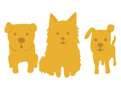pups dogs puppies icons illustration